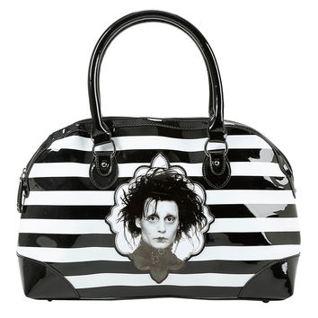 Rock Rebel Edward Scissorhands Striped Bag