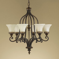 Murray Feiss Drawing Room 6 Light Walnut Chandelier - F2224/6WAL