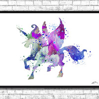 Unicorn 2 Watercolor print Animal Wall decor Children Boy Girl Kids Baby Room Nursery Interior Decor Bedroom Unicorn Wall Art Unicorn Poster