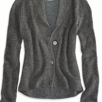 AEO Women's Shawl Collar Cardigan (Grey)