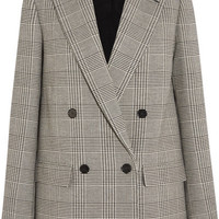 Stella McCartney - Milly Prince of Wales checked wool-blend blazer
