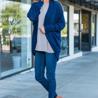 Tell Me About It Cardigan, Navy