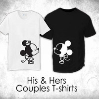 "His & Hers T-Shirts - ""Couple Kissing"""