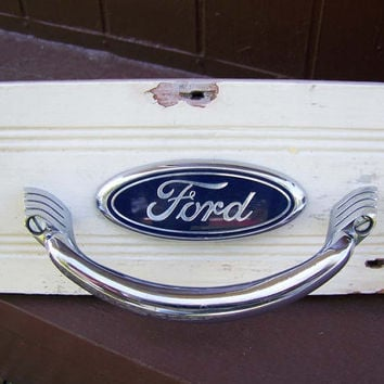 Hat Rack Towel Bar Combo  Vintage Ford Parts  Man Cave by NorScott