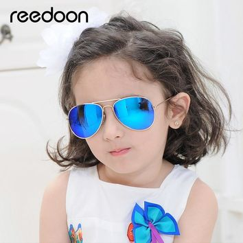Reedoon Kids Sunglasses 2018 Fashion Polarized Mirror Lens UV400 Metal Frame Baby Vintage Sun Glasses Cute For Boys Girls 3207