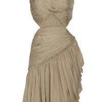 Matthew Williamson Summer pleated silk-chiffon dress - 70% Off Now at THE OUTNET