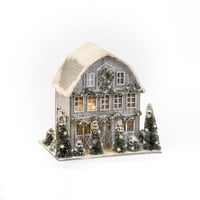 "8"" SMALL WHITE BARN"