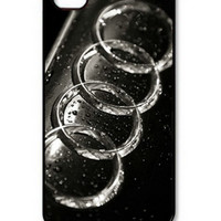 NEW Popular Creativity Audi Logo Hard Shell Case Cover Protector for iPhone 4 4s 5 5S 5G 5C 6 6PLUS
