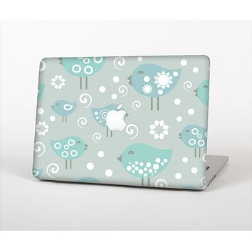 The Subtle Blue Multiple Birds Skin Set for the Apple MacBook Air 13""