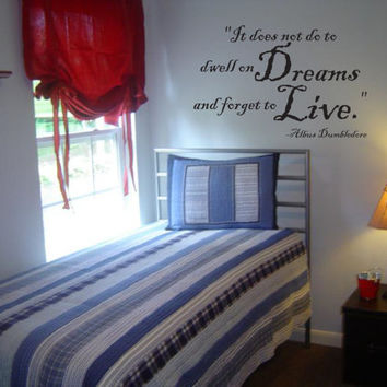 Harry Potter Wall Decal Dumbledore Quote by bushcreative on Etsy