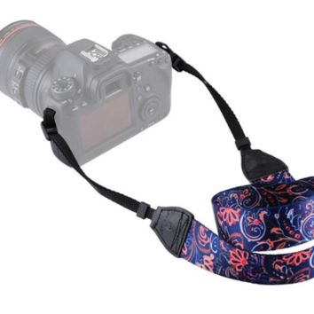 Cute Floral Colorful Camera Strap Photographers Gift - CAST61