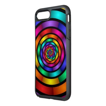 Round and Psychedelic Colorful Modern Fractal Art OtterBox Symmetry iPhone 8 Plus/7 Plus Case
