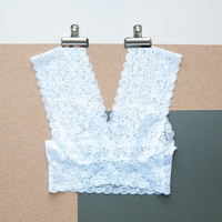Vintage Style Lace Bralette Crop Top in White by Brighton Lace