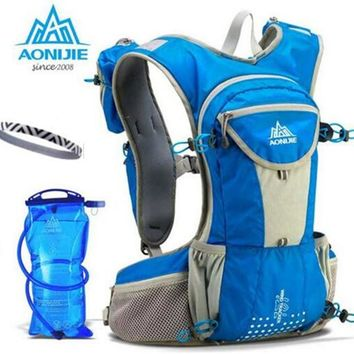 AONIJIE 12L Large Capacity Sports Running Backpack Marathon Trail Running Cross Country Racing Hydration Vest For 2L Water Bag