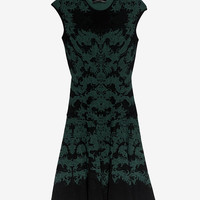 RVN EXCLUSIVE Jacquard Flare Dress: Emerald-Just In-Exclusives-Categories- IntermixOnline.com
