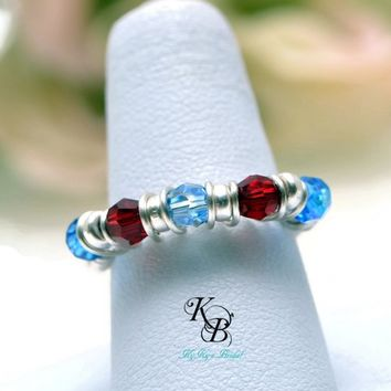 Sterling Silver Mothers Ring, Birthstone Ring, Birthstone Jewelry, Mothers Jewelry, Mothers Day Gift, Sterling Silver Ring, Mothers Ring | KyKy's Bridal, Handmade Bridal Jewelry, Wedding Jewelry