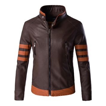 Herobiker Classical Motorcycle Jacket Men Retro PU Leather Jacket Motorbike Punk Windproof Casual Faux Leather Moto Jacket