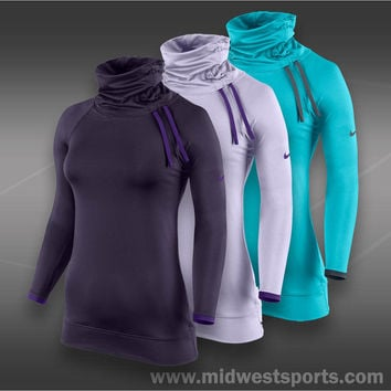 nike womens tennis long sleeve shirt, Nike Pro Hyperwarm Side Tie Top Ho13_60494