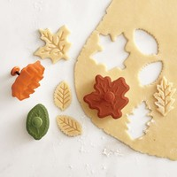 Fall Leaf Piecrust Cutters, Set of 3