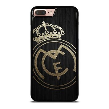 GOLD REAL MADRID LOGO iPhone 8 Plus Case Cover