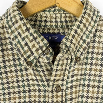 J CREW houndstooth button down shirt - mens large