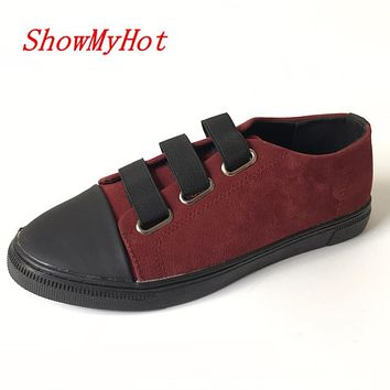 ShowMyHot designer vintage casual flat shoes moccasins sapatos femininos lace up shoes sapatilhas zapatos mujer shoes
