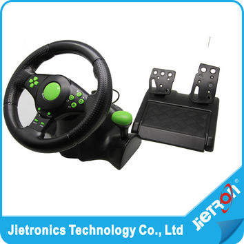 2016 Wired USB Vibration Feedback racing wheel for ps3 Steering Wheel work for XBOX 360 PS3 PC (3 in 1) with free shipping