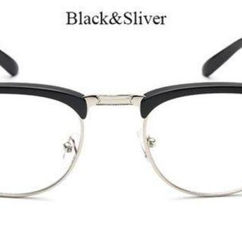 VONFC9 TSHING Brand Designer Eyeglasses Frame Vintage Eye Glasses Clear Lens Reading Classic Bookworm Optical Eyewear  Oculos de grau