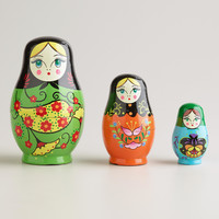 Russian Nested Dolls, Set of 3 - World Market