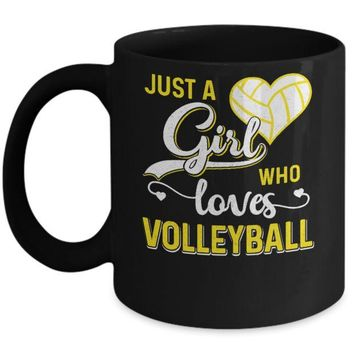DCKIJ3 Just A Girl Who Loves Volleyball Mug