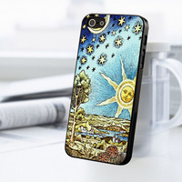 Old Starry Sun And Moon iPhone 5C Case
