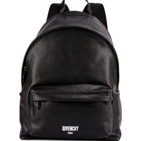 Givenchy Mens Printed Logo Leather Backpack, Black