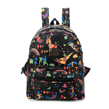 On Sale College Casual Hot Deal Back To School Stylish Comfort Mini Lovely Vintage Print Korean Backpack [4915454468]