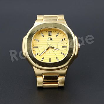 HIP HOP RAONHAZAE JESUS X GOLD PLATED FINISHED WATCH