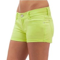 WallFlower Juniors Colored Denim Shorts