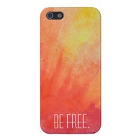 Be Free Tie Dye iPhone 5 Case. from Zazzle.com