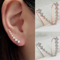New fashion 7 long diamond earrings ear hanging earrings