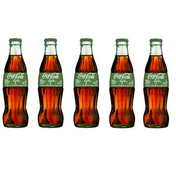 Coke Life Reduced Calorie Cola with Stevia 8oz Glass Bottles - 12 Case