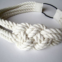 15% OFF Cotton rope sailor knot headband