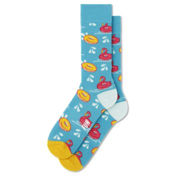 Fun Socks - Flamingo - Blue / Pink