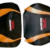 Suzuki GSXR 600/750 04/05 Blaze Vinyl Motorcycle Seat Cover CF Black CF Orange