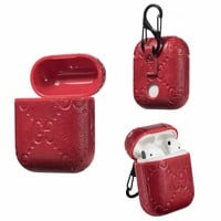 GG EMBOSS AIRPODS CASE - RED