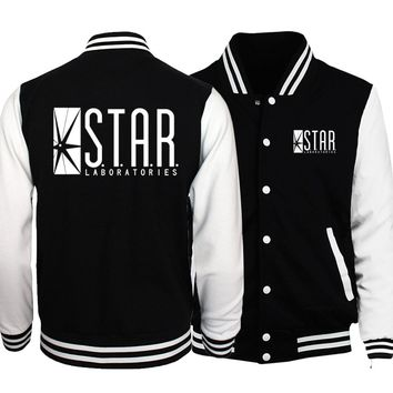 Trendy The Flasher Star S.T.A.R. Labs/Teen Wolf Stilinski 24 Jacket Men 2018 Spring Baseball Jackes Slim Fit Coat Homme Plus Size 5XL AT_94_13