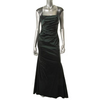 David Meister Womens Taffeta Jeweled Evening Dress