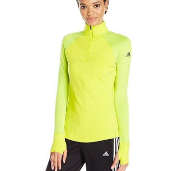 adidas Womens Training Techfit Cold Weather 1/2 Zip