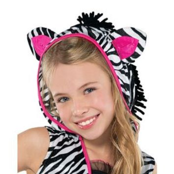Girls Sassy Stripes Zebra Costume