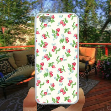 Loves Strawberry hot pink phone case 4/4s case iphone 5/5s/5c case samsung galaxy s3/s4 case galaxy S5 case Waterproof gift case 488