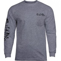 CAMO Marlin Long Sleeve Pocket Tee - Tops - Mens