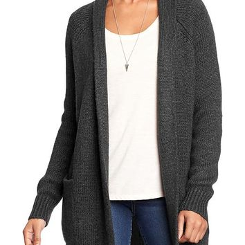 Old Navy Womens Open Front Cardigans Size L - Dark charcoal gray