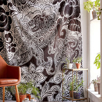 4040 Locust Samong Charcoal Tiger Tapestry - Urban Outfitters